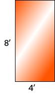 8' x 4'